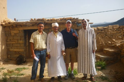 Youssef Oulcadi, Basou Adi, Jim Miller, and Mustapha Qadery (from left to right).
